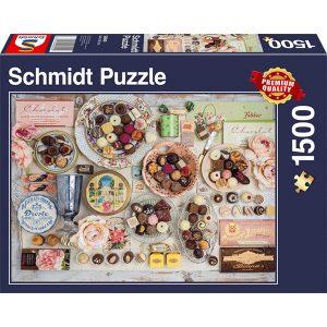 Schmidt 1500 Piece Puzzle Nostalgic Chocolates 58940