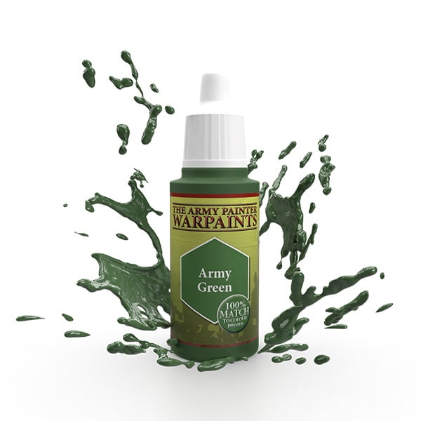 The Army Painter Acrylic Warpaint Army Green WP1110