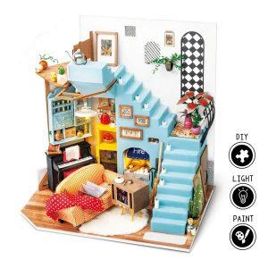 Robotime DIY Joy's Peninsula Living Room with LED Light DG141