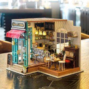 Robotime DIY House Simon's Coffee with LED Light DG109