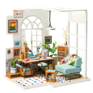 Robotime DIY House SOHO Time with LED Light DGM01