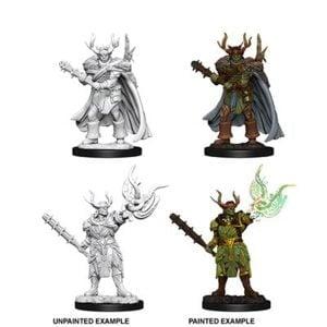 WizKids Pathfinder Deep Cuts Unpainted Miniatures Wave 10 Male Half-Orc Druid 73853