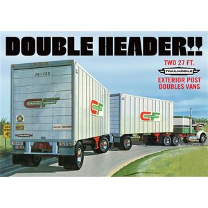 AMT Double Header Tandem Van Trailers 1132