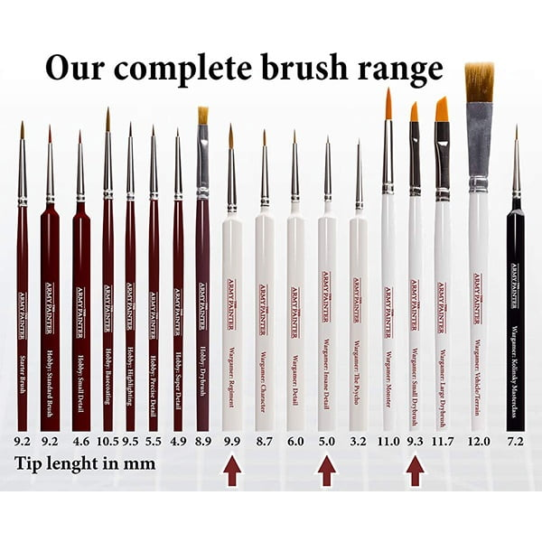 The Army Painter Most Wanted Brush Set TL5043