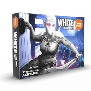 Ak Interactive White Colors Set 11609