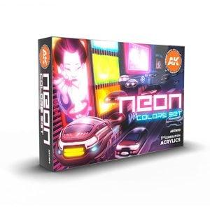 Ak Interactive Neon Colors Set 11610