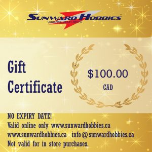 Sunward Hobbies Gift Card 100 CAD