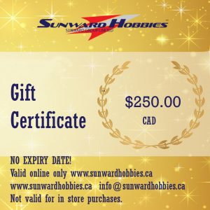 Sunward Hobbies Gift Card 250 CAD
