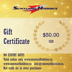 Sunward Hobbies Gift Card 50 CAD