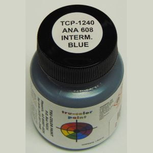 Tru-Color Paint ANA-608 Intermediate Blue 1 ounce TCP-1240