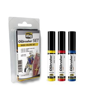 Ammo by Mig Oilbrusher Basic Colors Set AMIG7504