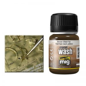 Ammo by Mig Brown Wash For German Dark Yellow AMIG1000