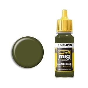 Ammo by Mig Jimenez 4Bo Russian Green Acrylic Paint AMIG0019