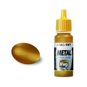 Ammo by Mig Jimenez Brass Acrylic Paint AMIG0197