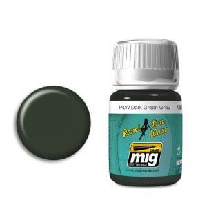 Ammo by Mig Panel Line Wash Dark Green Grey AMIG1608