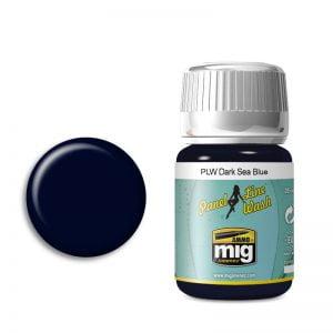 Ammo by Mig Panel Line Wash Dark Sea Blue AMIG1603