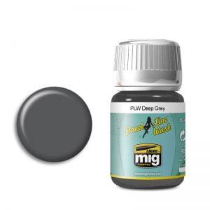 Ammo by Mig Panel Line Wash Deep Grey AMIG1602