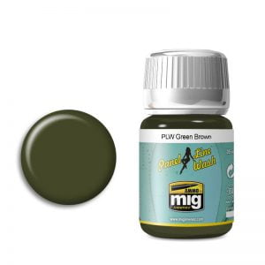 Ammo by Mig Panel Line Wash Green Brown AMIG1612