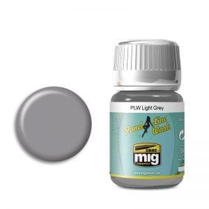 Ammo by Mig Panel Line Wash Light Grey AMIG1600