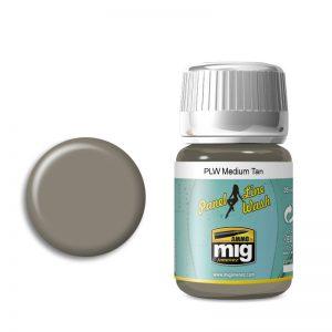 Ammo by Mig Panel Line Wash Medium Tan AMIG1606