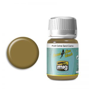 Ammo by Mig Panel Line Wash Ochre For Sand Camo AMIG1622