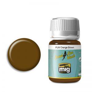 Ammo by Mig Panel Line Wash Orange Brown AMIG1616