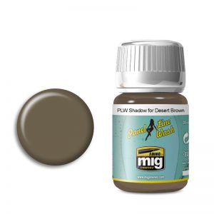 Ammo by Mig Panel Line Wash Shadow For Desert Brown AMIG1621