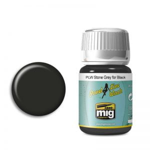 Ammo by Mig Panel Line Wash Stone Grey For Black AMIG1615