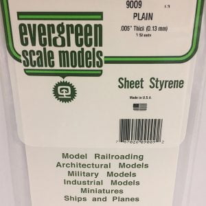 Evergreen .005″ Thick Pack of 3 White Polystyrene Sheet EVE 9009