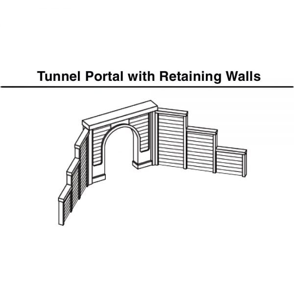 Woodland Scenics N Tunnel Port Timber Single 2 Pack C1154
