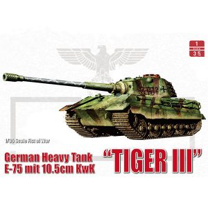 ModelCollect German WWII E-75 Heavy Tank King tiger III 105mm UA35013
