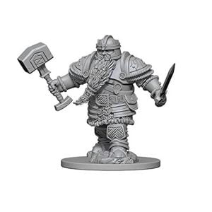 Wizkids D&D Nolzurs Marvelous Unpainted Miniatures Wave 1 Dwarf Male Fighter 72616