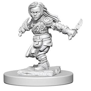 Wizkids D&D Nolzurs Marvelous Unpainted Miniatures Wave 1 Halfling Female Rogue 72627