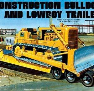 AMT Lowboy Trailer & Bulldozer Combo 1:25 Scale 1218