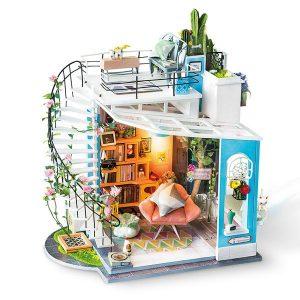 Robotime DIY House Dora's Loft with LED Lights DG12