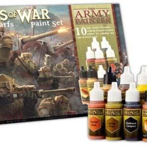 The Army Painter Kings of War Dwarfs Paint Set Warpaints WP8015