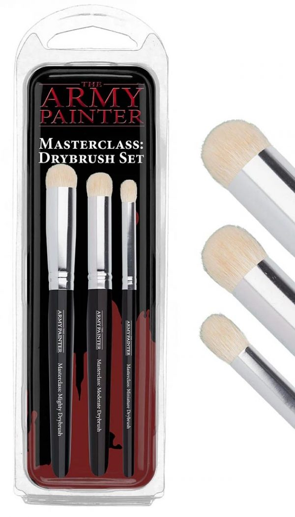 The Army Painter Masterclass Drybrush Set of 3 TL5054