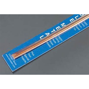 """Copper Rod 1/16 & 3/32 Bendables Pack of 4 12"""" Long K&S Engineering 5071"""