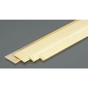"""Brass Strips .032 x 1/4 & 1/2 Bendables Pack of 3 12"""" Long K&S Engineering 5078"""