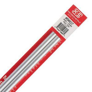 8mm OD X .45mm Wall Round Aluminum Tube Pack of 2 300mm Long K&S Engineering 9807
