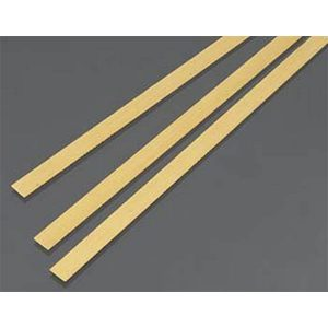 .5mm THK X 6mm Wide Brass Strip Pack of 3 300mm Long K&S Engineering 9840