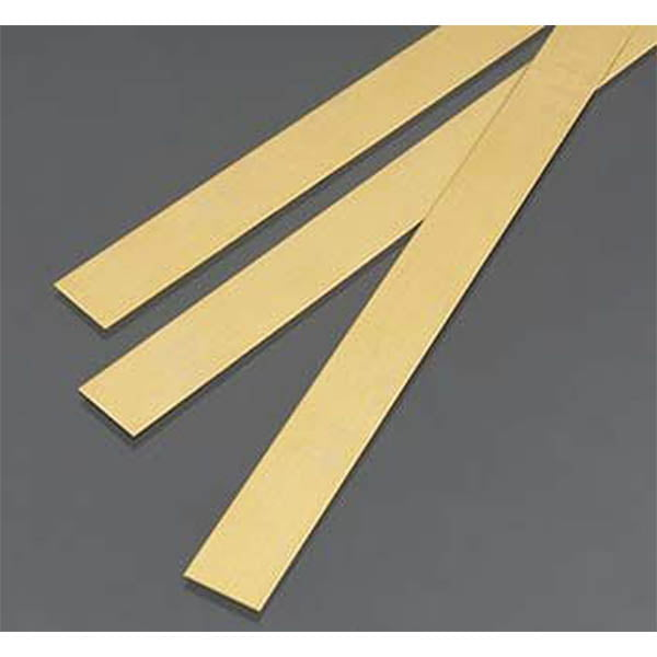 .5mm THK X 12mm Wide Brass Strip Pack of 3 300mm Long K&S Engineering 9841