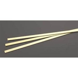 1mm THK X 6mm Wide Brass Strip Pack of 3 300mm Long K&S Engineering 9843
