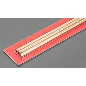 4mm OD X .36mm Wall Round Copper Tube Pack of 3 300mm Long K&S Engineering 9872