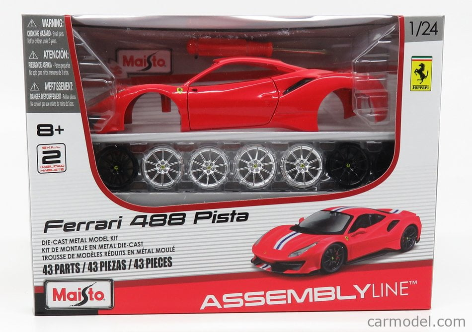 Maisto Ferrari 488 Pista Red Diecast Model Building Kit 1 24 Scale 39135 Canada S Largest Selection Of Model Paints Kits Hobby Tools Airbrushing And Crafts With Online Shipping And Up To Date Inventory