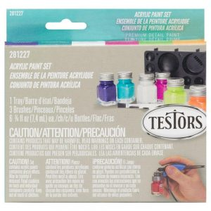 Testors Model Acrylic Paint Set of 6 281227