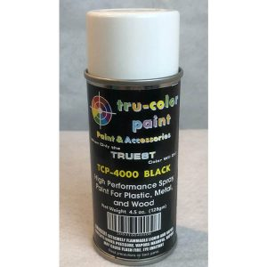 Tru-Color Gloss Black Spray Can 4.5 ounce 128 gms TCP-4000