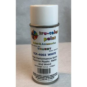 Tru-Color Gloss White Spray Can 4.5 ounce 128 gms TCP-4003
