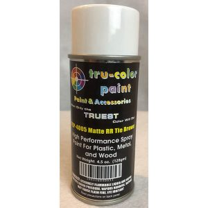 Tru-Color Matte Railroad Tie Brown Spray Can 4.5 ounce 128 gms TCP-4005