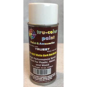 Tru-Color Matte Dark Red Brick Spray Can 4.5 ounce 128 gms TCP-4007